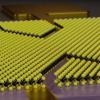 研究人员将纳米尺寸的图案切成二维材料