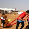 第二届宁夏大漠健身运动大赛爬沙丘比赛展开