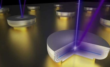 展示了世界上垂直腔表面发射激光器最短的波长