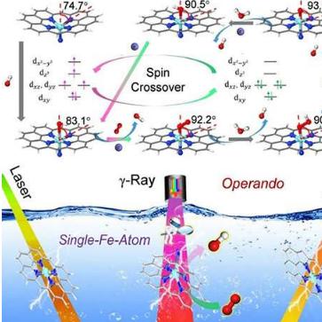 科学家确定了单铁原子材料中催化中心的电子和结构动力学